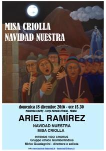 Manifesto MISA CRIOLLA 18.12.16