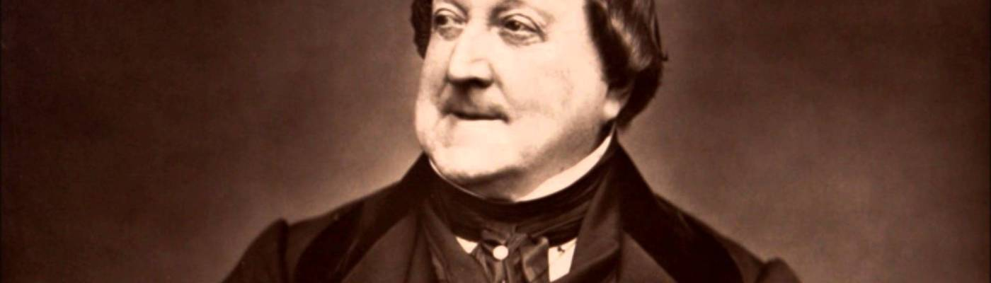 Il compositore Gioachino Rossini (1792-1868)